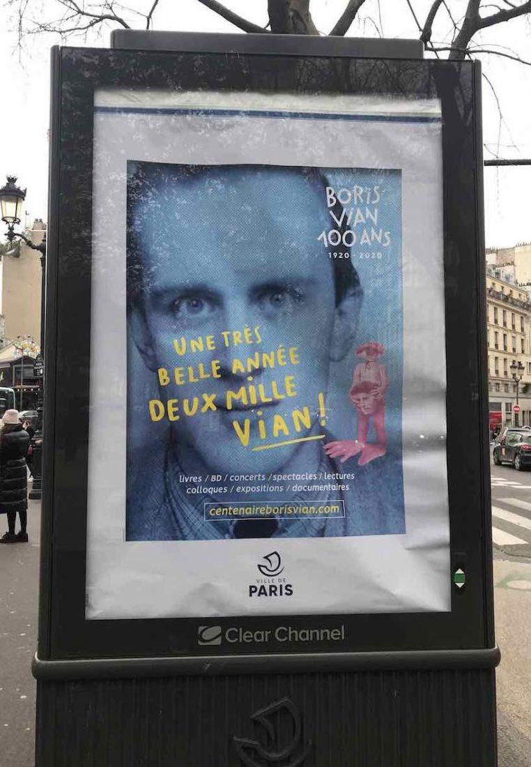 Affiche centenaire Boris Vian Paris