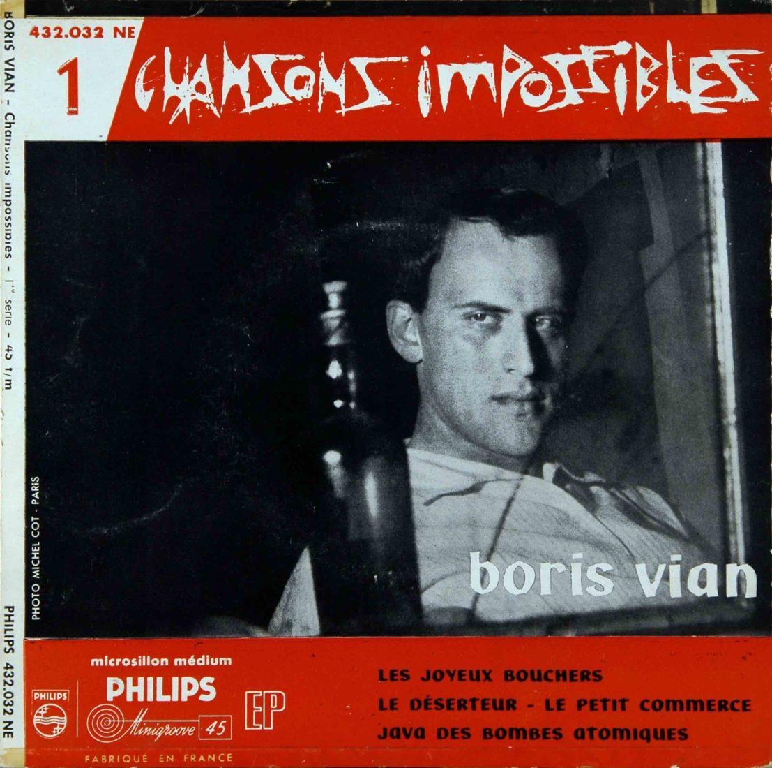 Disque 45 tours chansons impossibles Boris Vian