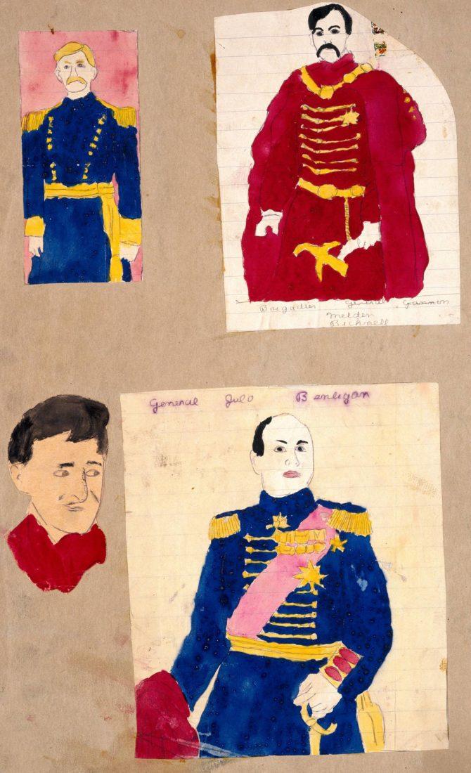 Henry Darger quatre généraux Collection art Brut Lausanne