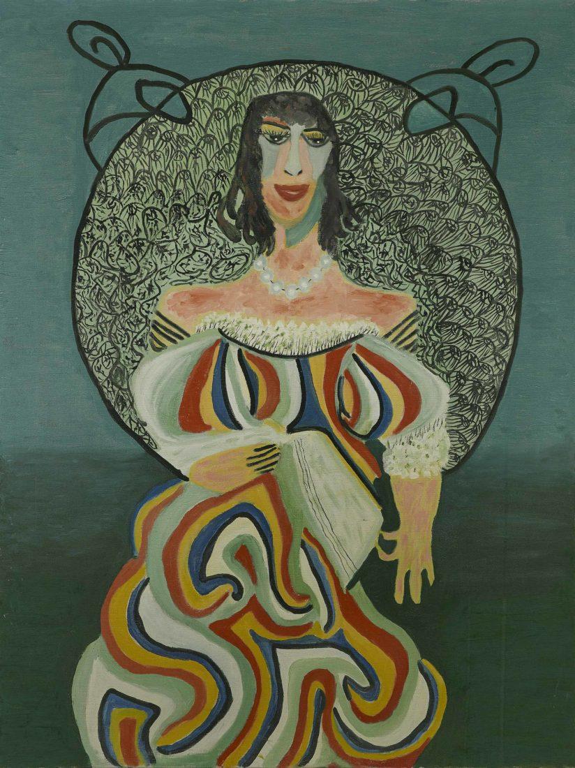 Pauline Simon, sans titre, 1968, Acrylique sur toile,