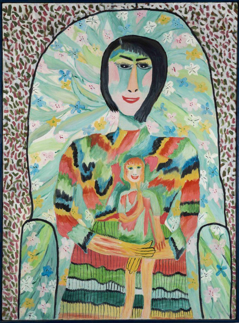 Pauline Simon, sans titre, Acrylique sur toile, 1965