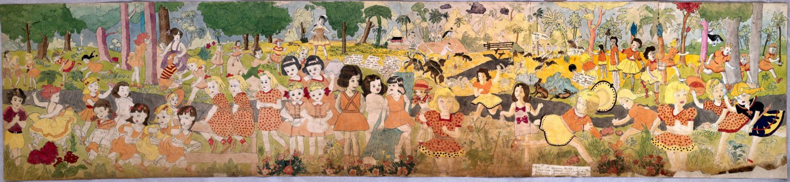 Henry Darger, 216 At Jennie Richee. Then are chased for long distance ...