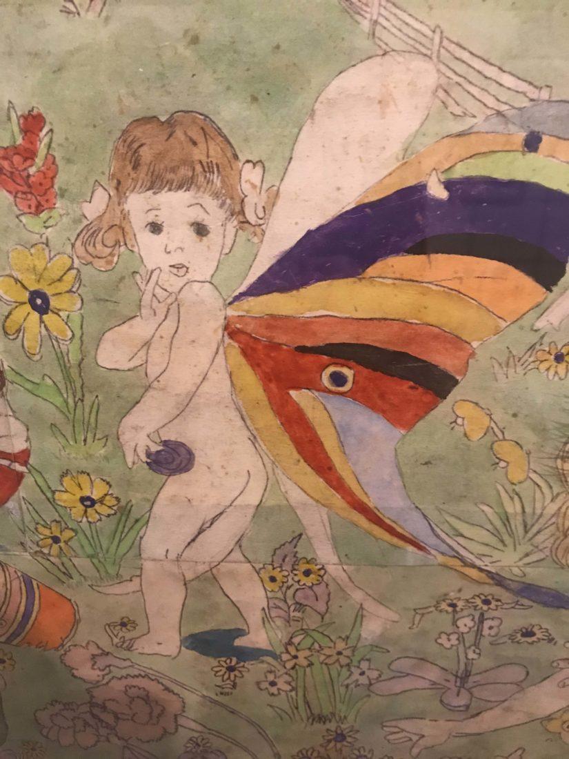 HENRY DARGER fillette papillon Collection de l'Art Brut, Lausanne