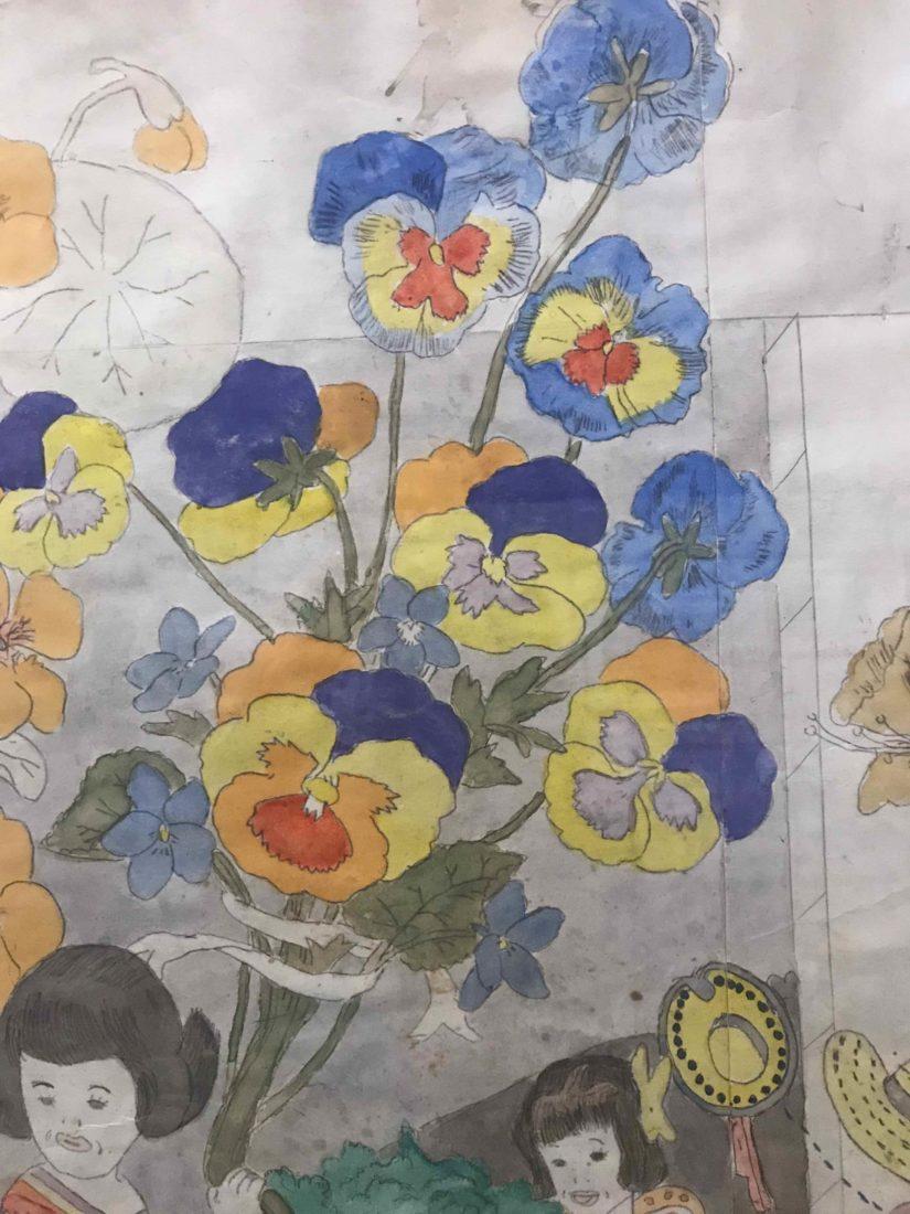 HENRY DARGER fleurs Collection de l'Art Brut, Lausanne