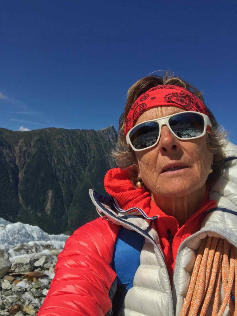 Josée de Vérité sur le glacier des Bossons
