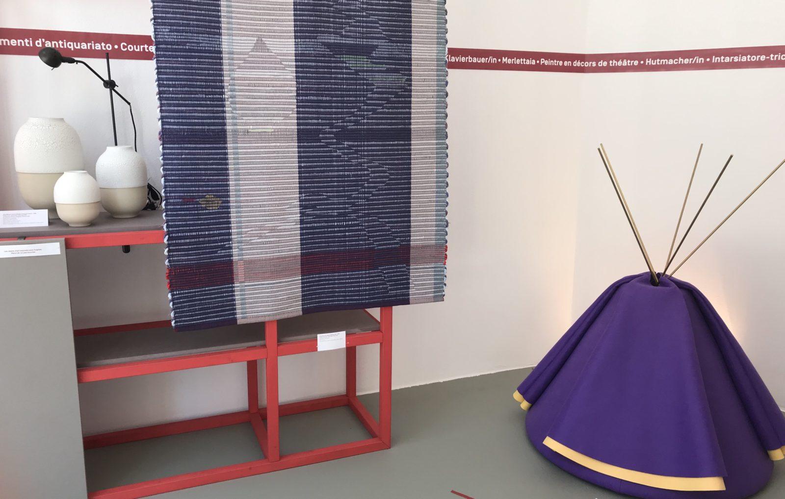 créations des lauréats des prix Métiers d'Art Suisse