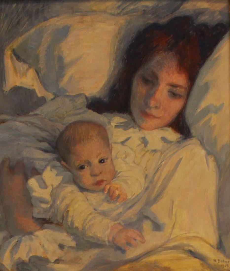 Le Soir. Mère et enfant Paul Balmer