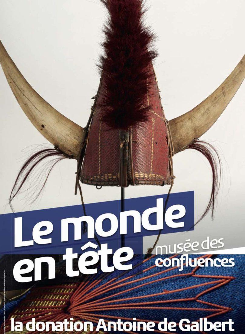 Affiche exposition Coiffes Musée des Confluences