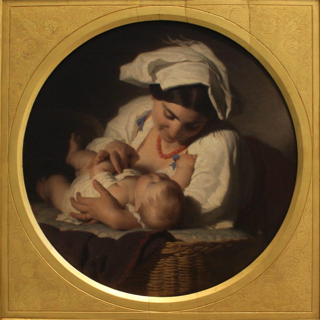 Maternité, 1851, par Alfred van Muyden