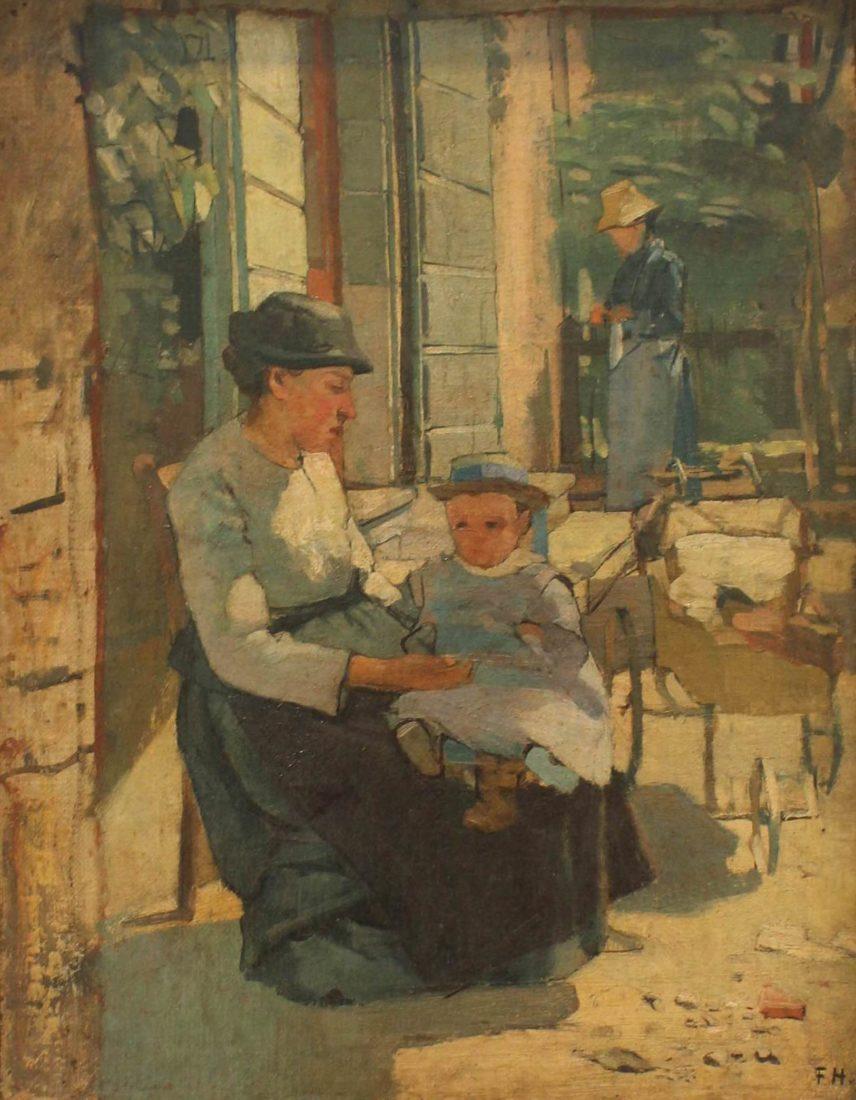 Mère et enfant au jardin, F. Hodler, vers 1889