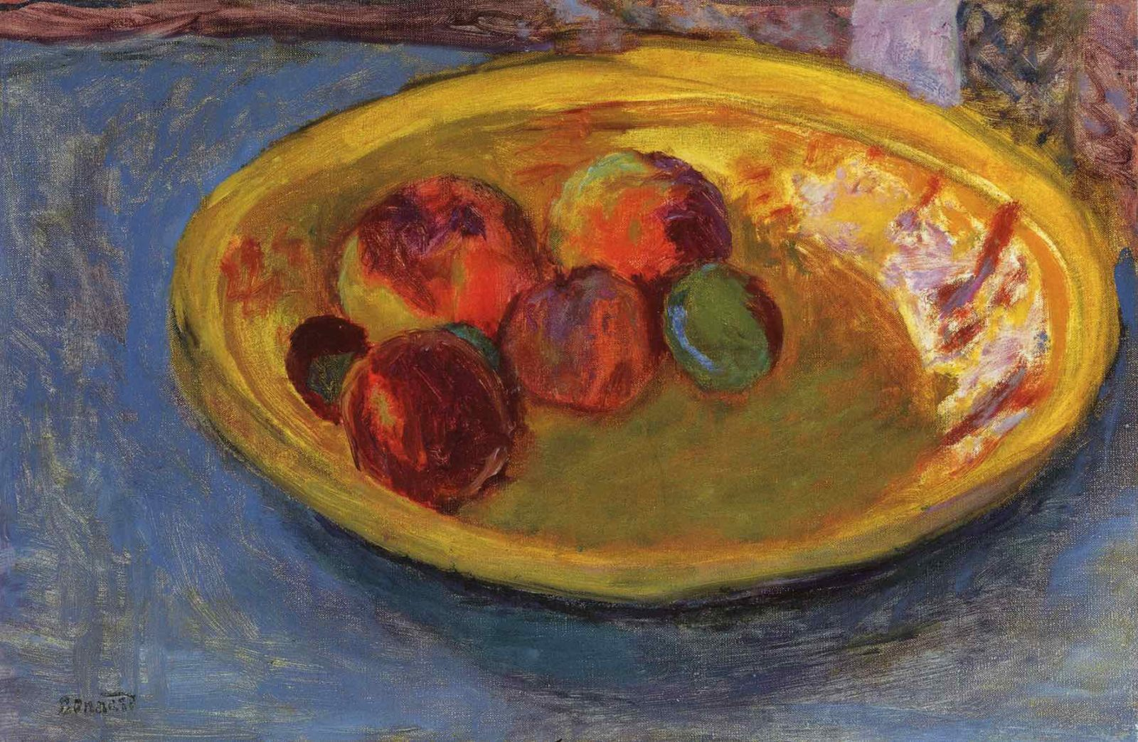 Pierre Bonnard Assiette de fruits, 1930.
