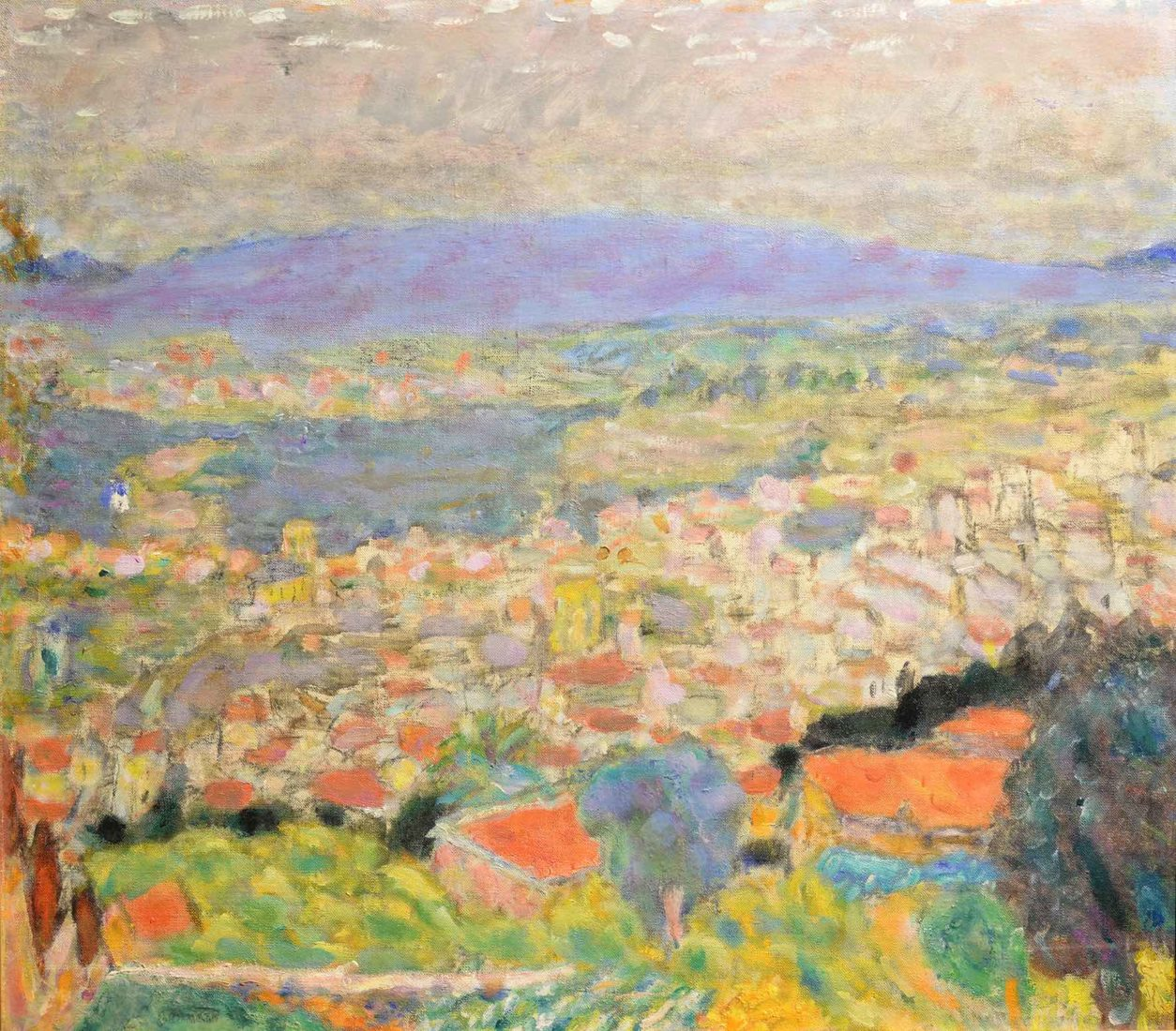 Pierre Bonnard : Vue panoramique du Cannet, 1930
