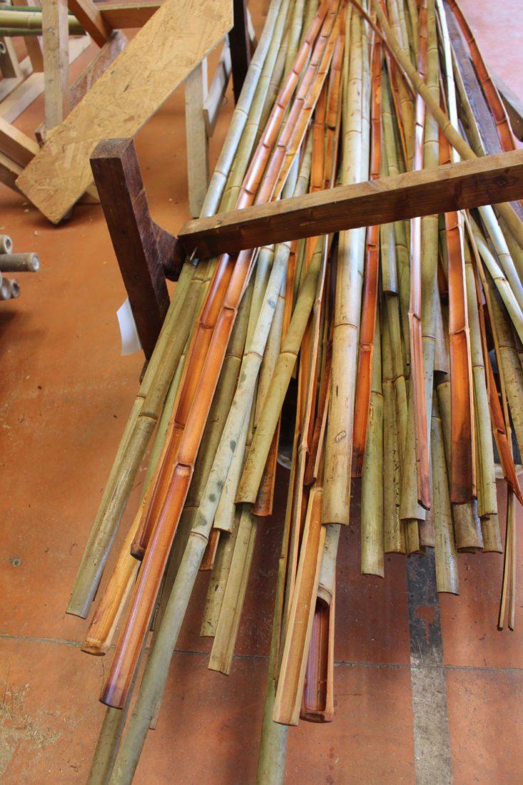 Déambulons cannes de bambous