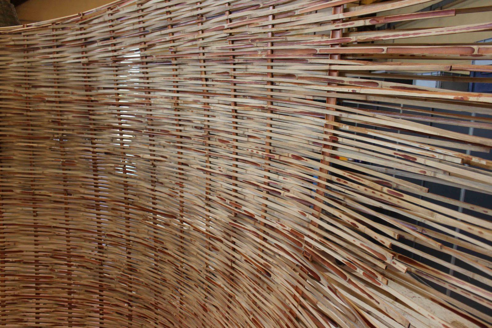 Déambulons cloison bambou atelier