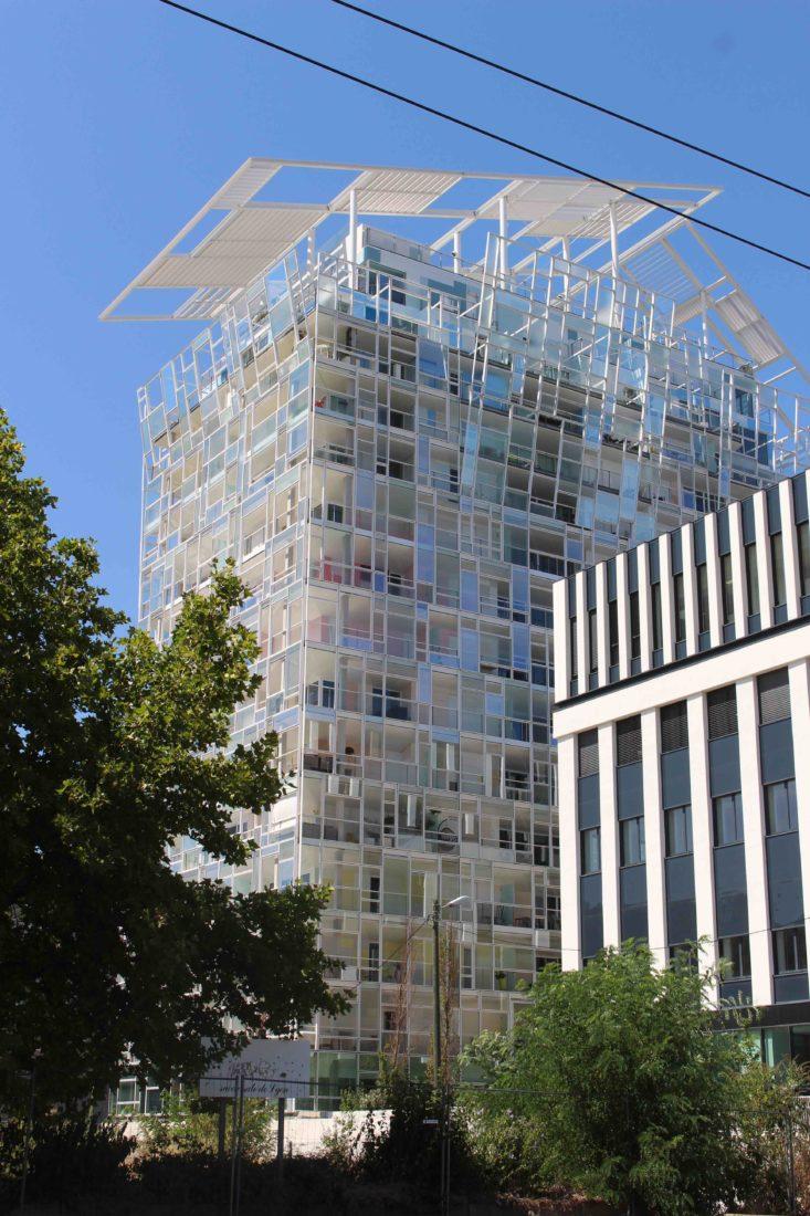 Quartier Confluences Lyon immeuble