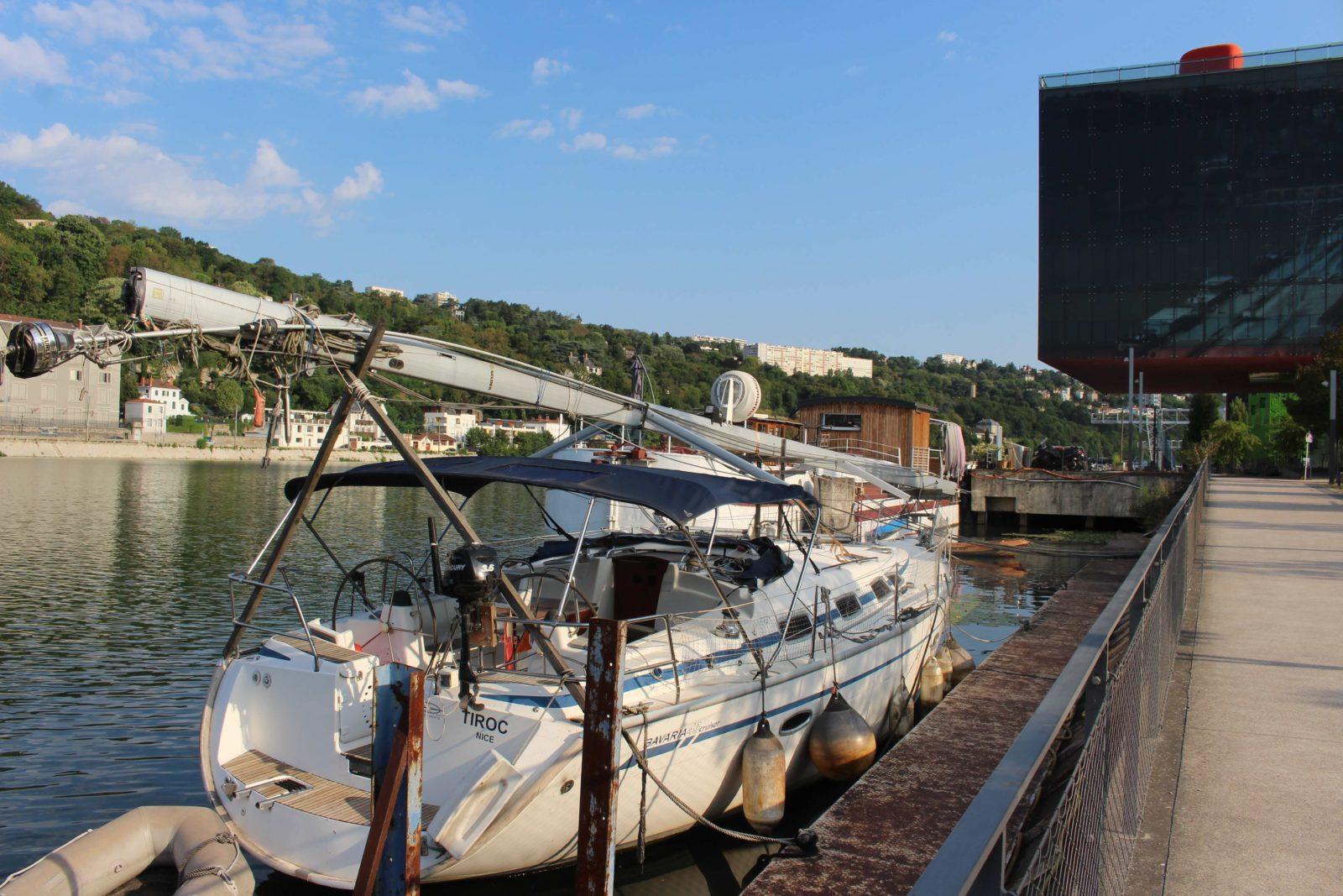 Confluences Lyon bateaux surla Saône