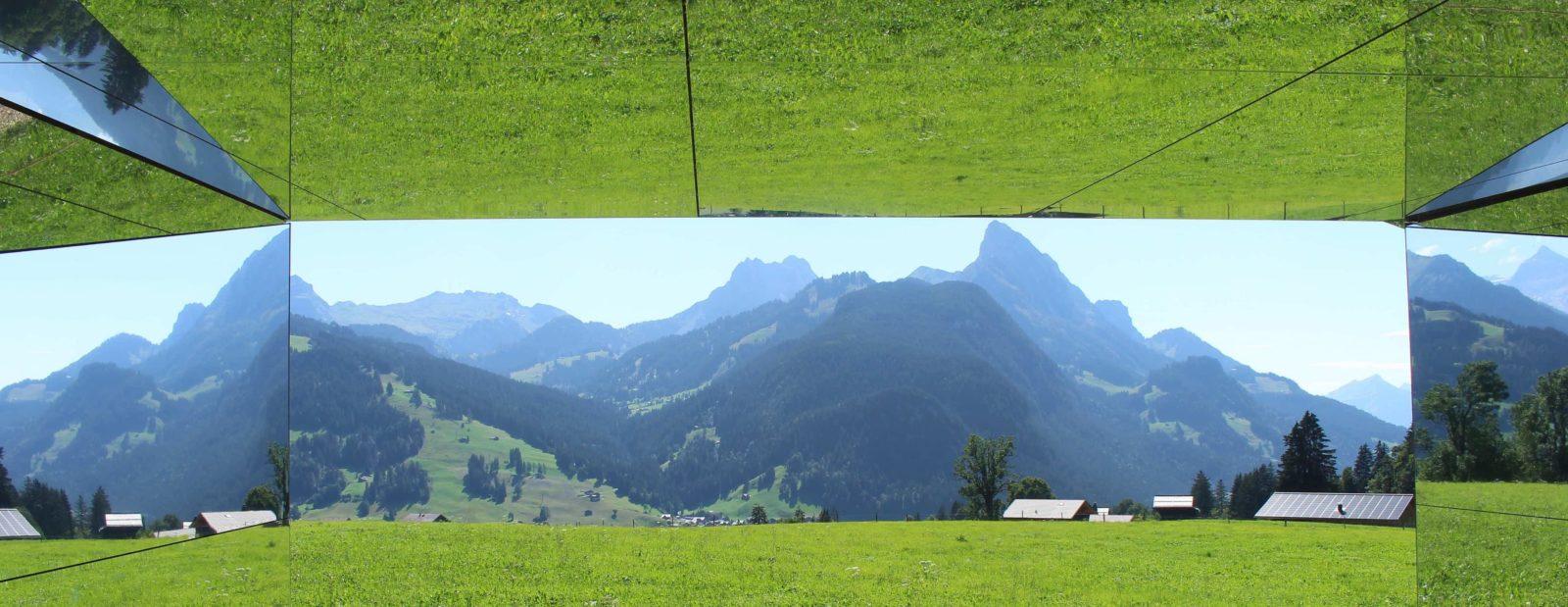 Mirage Gstaad vue depuis la maison sur les montagnes