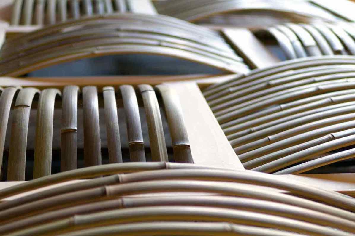 Déambulons cloison en bambou