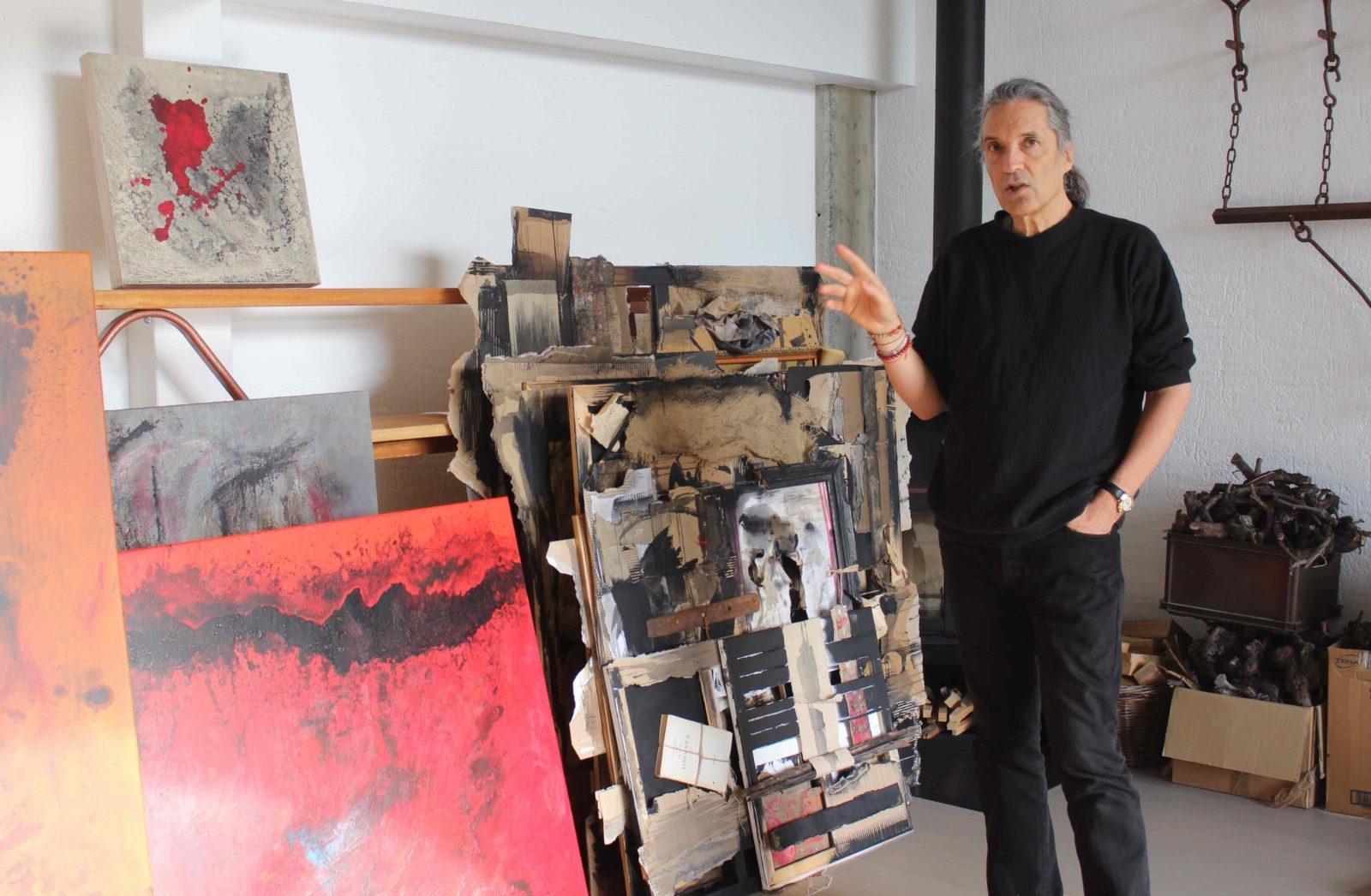Jef Gianadda en son atelier 2020
