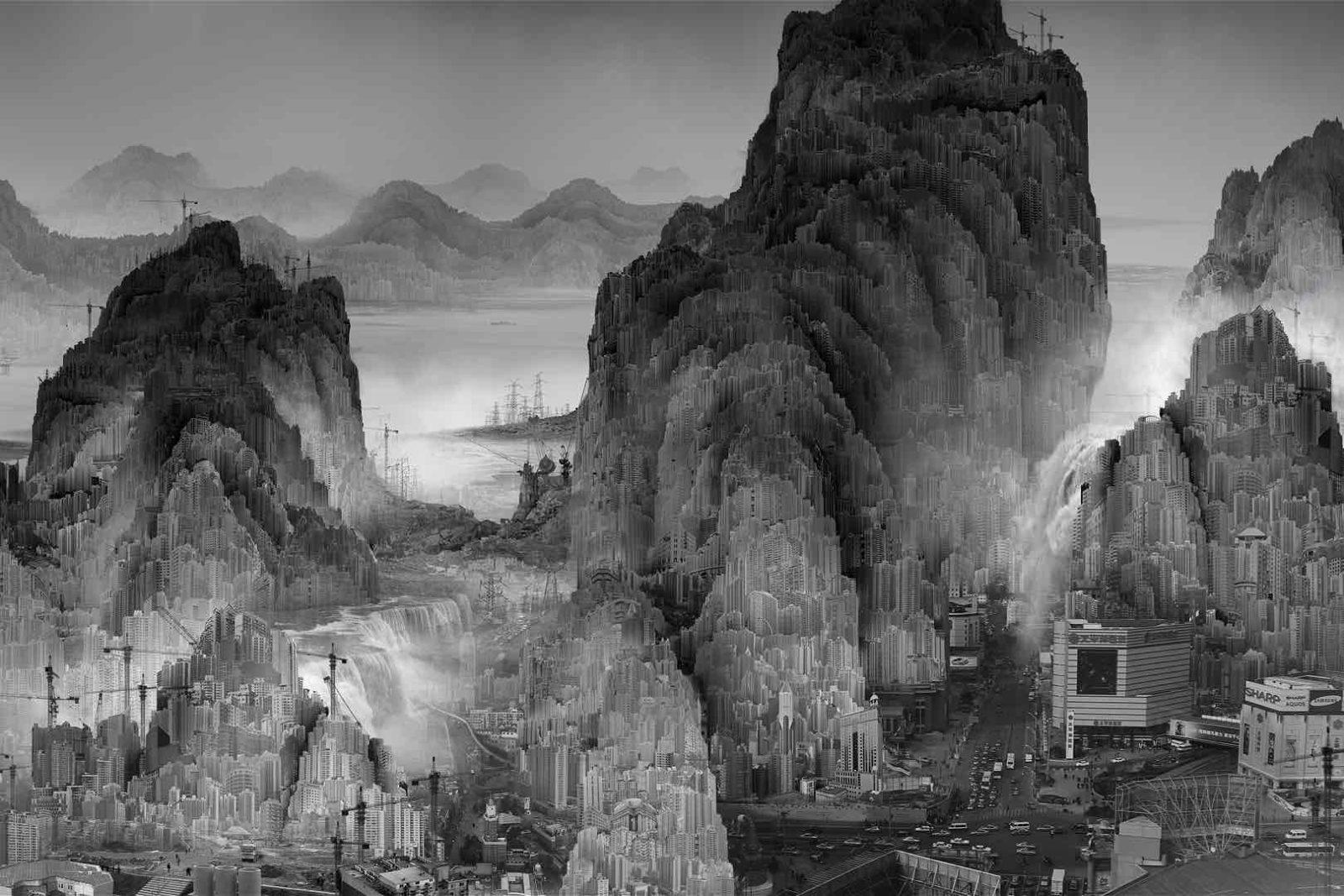Yang Yongliang (né 1980), Phantom Landscape
