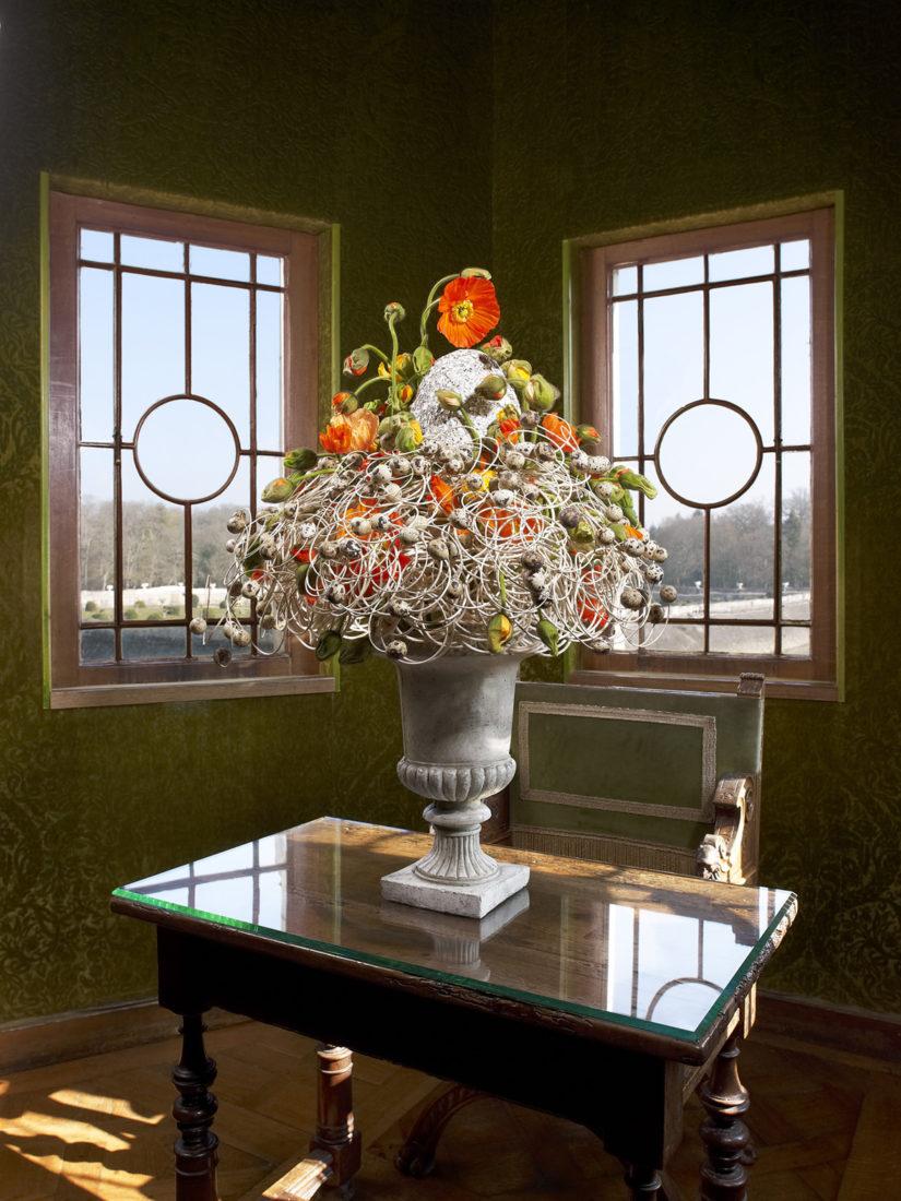 Composition florale  été Château de Chenonceau