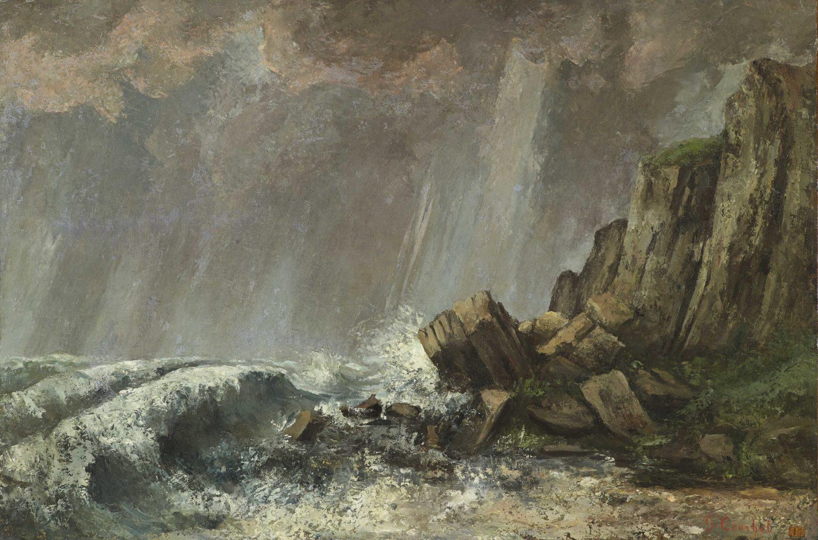 Gustave Courbet, (1819-1877), La Trombe