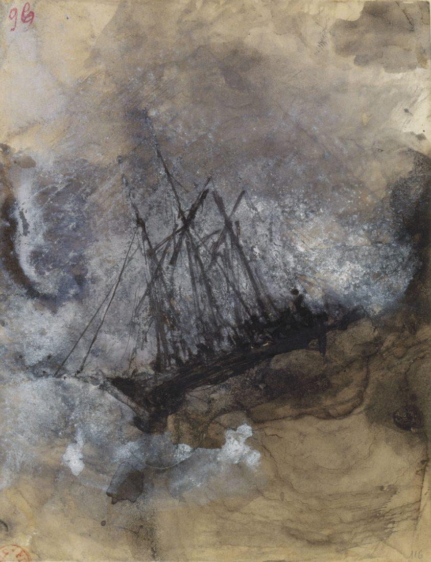 Victor Hugo, (1802-1885), Les Travailleurs de la mer _ Naufrage