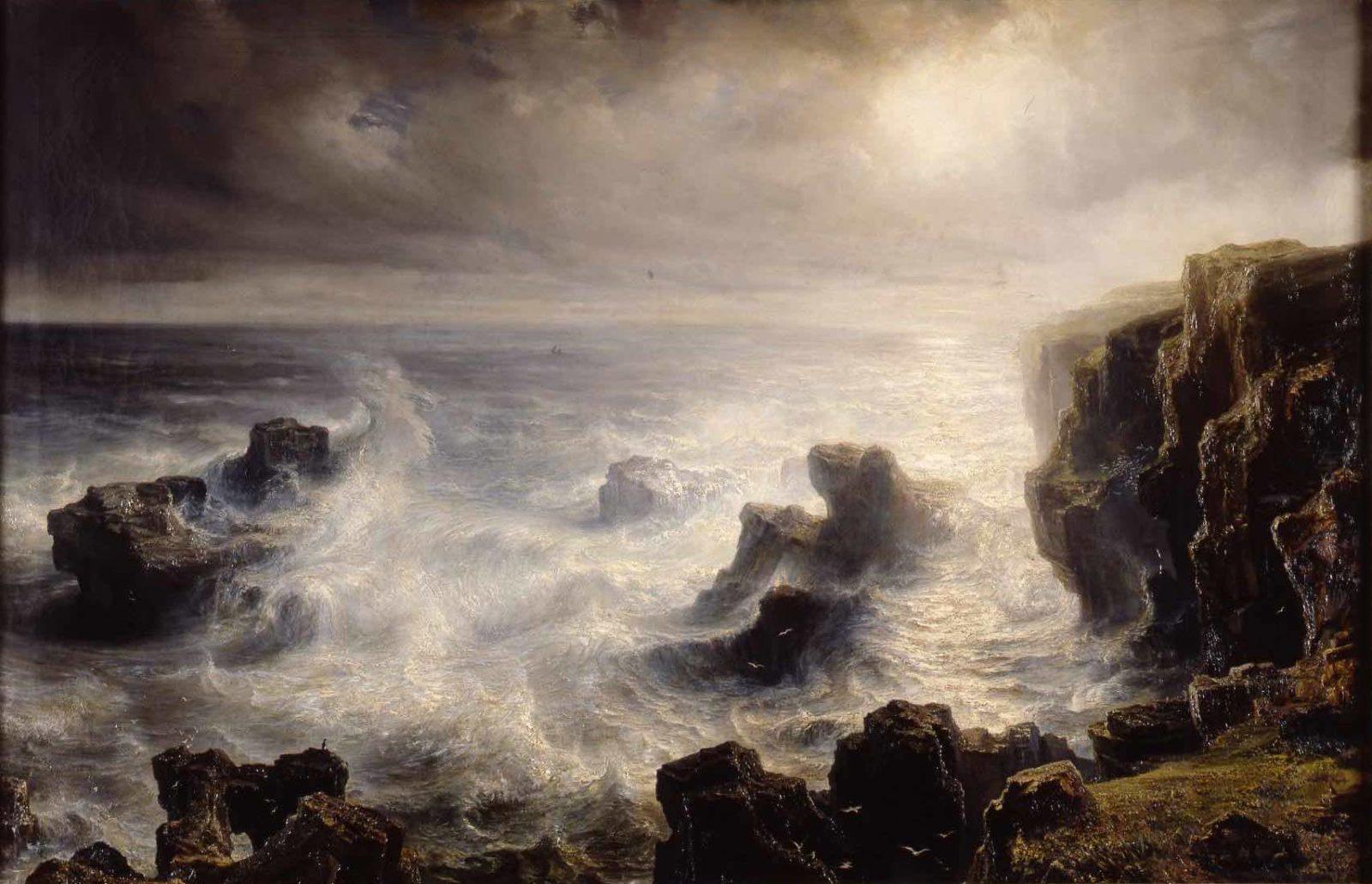 Théodore Gudin (1802-1880), Tempête sur les côtes de Belle-Île,
