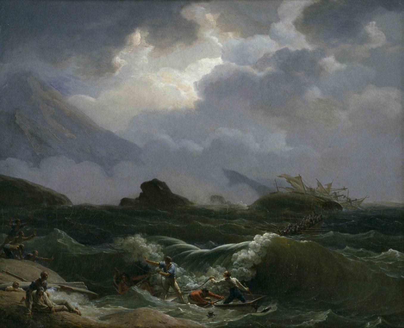 Louis-Philippe Crépin (1772-1824) Sauvetage de la gabare l'Alouette