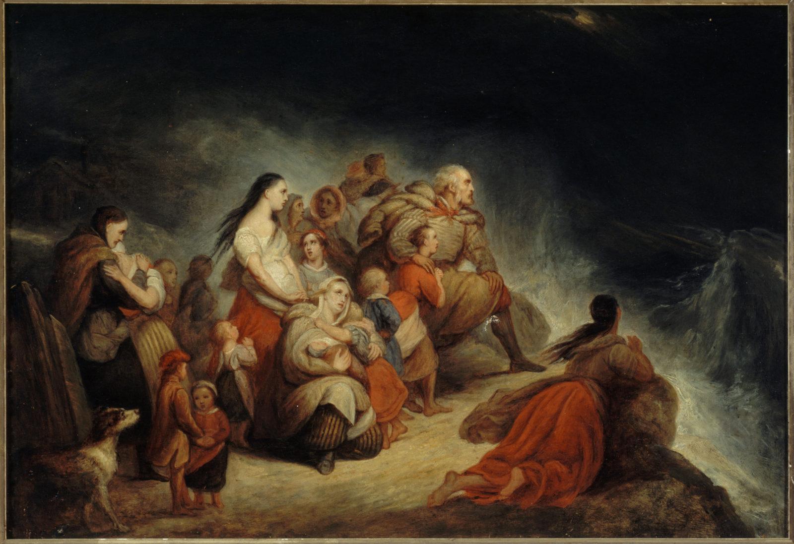 Ary Scheffer, (1795-1858), La Tempête,