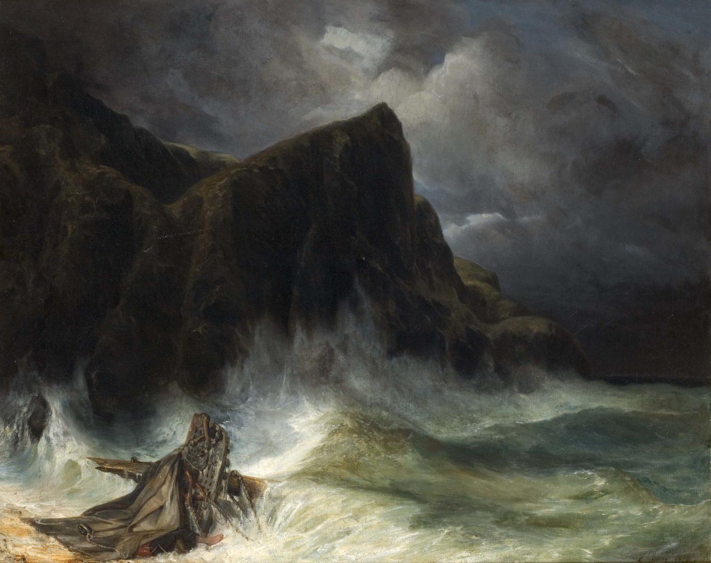 Eugène Isabey (1803-1886), La Tempête - Naufrage,