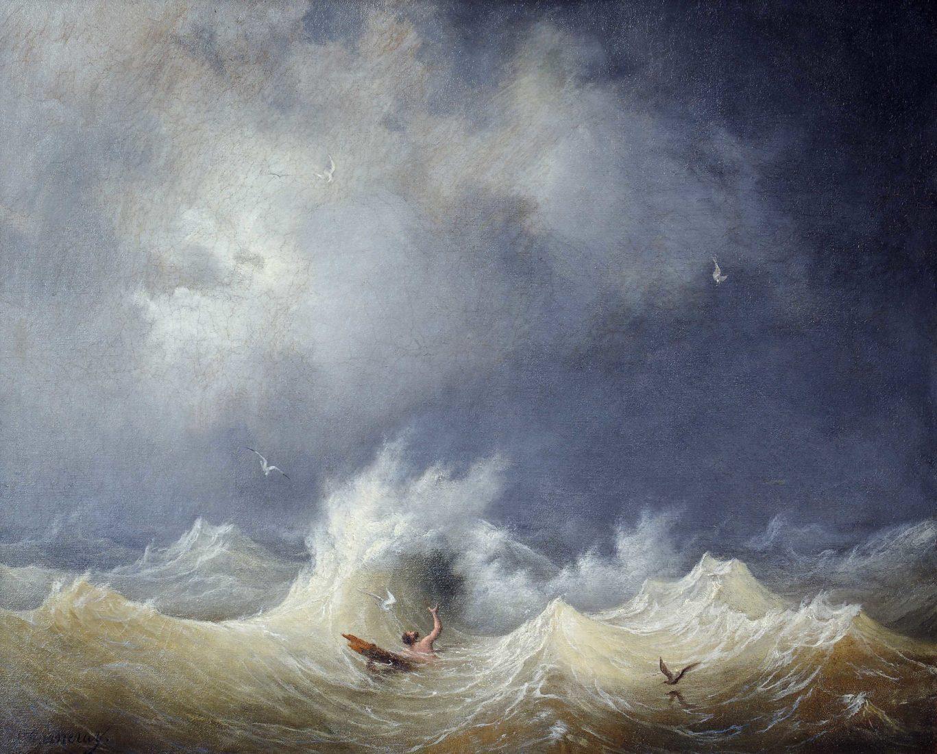 Louis Garneray, (1783 –1857), Le Naufragé,