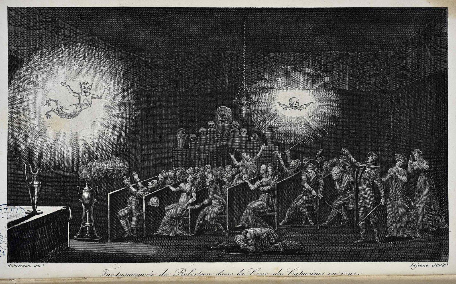 Robertson et Lejeune Fantasmagorie de Robertson dans la cour des Capucines