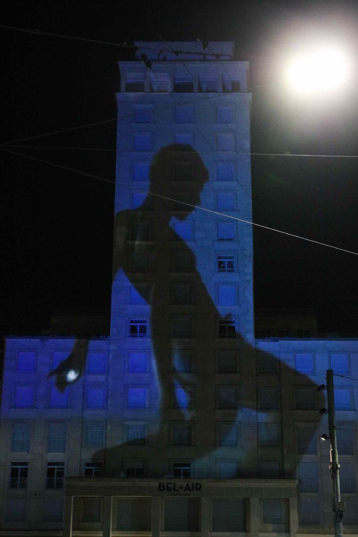 Festival Lausanne Lumières 2020 Tour Bel-Air bleu