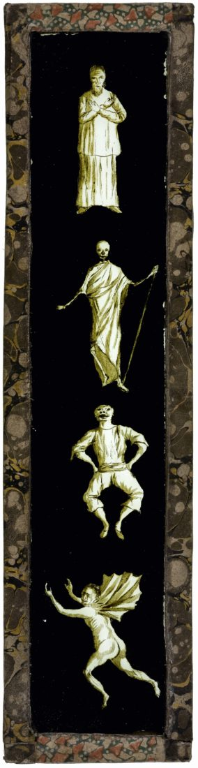 Plaque de fantasmagorie verticale