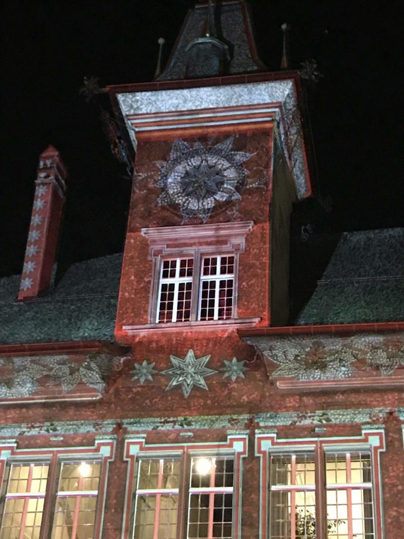 Détail illumination Hôtel de ville 2020 Lausanne