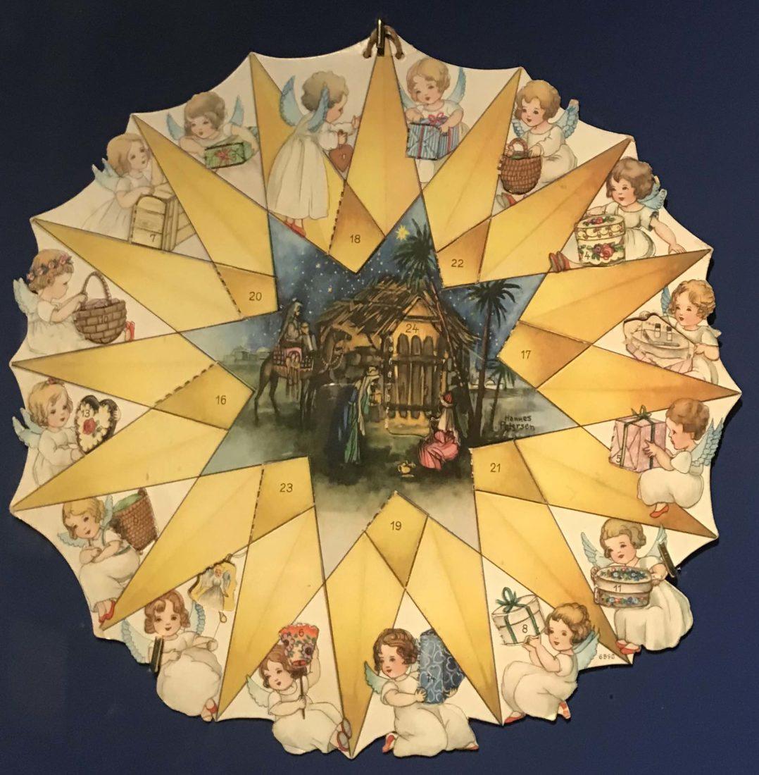 Château de Gruyères calendrier à cadran avec anges