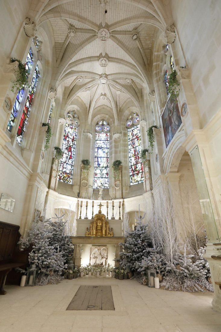 Château de Chenonceau Décor chapelle Noël 2020