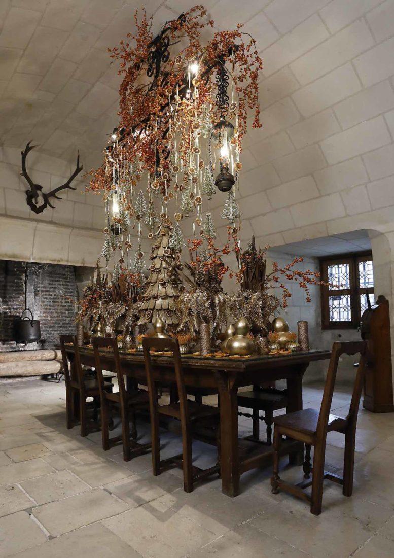 Décor floral Noël 2020-21 Cuisines du château de Chenonceau