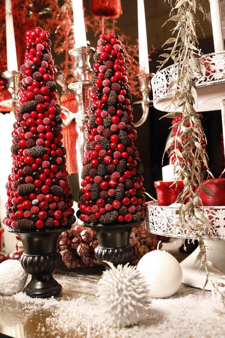 Château de Chenonceau décor rouge et blanc Noël 2020