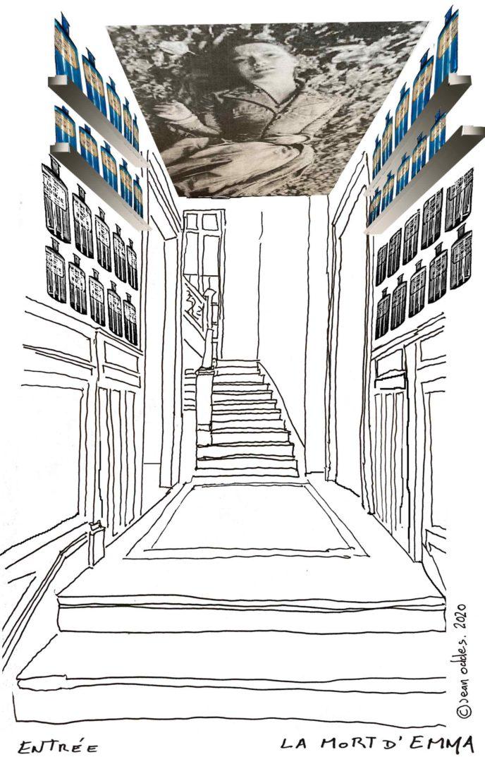CROQUIS DE JEAN ODDES : Maison Marrou ©Jean Oddes 2020