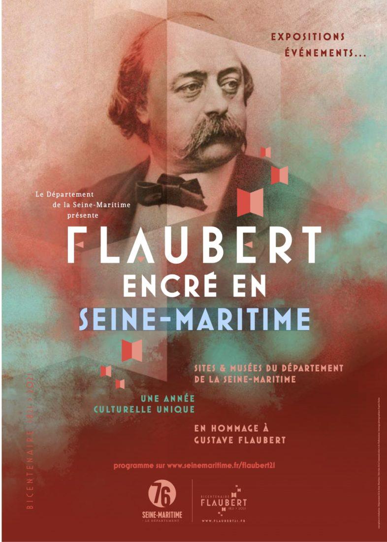 Affiche bicentenaire Flaubert 2021