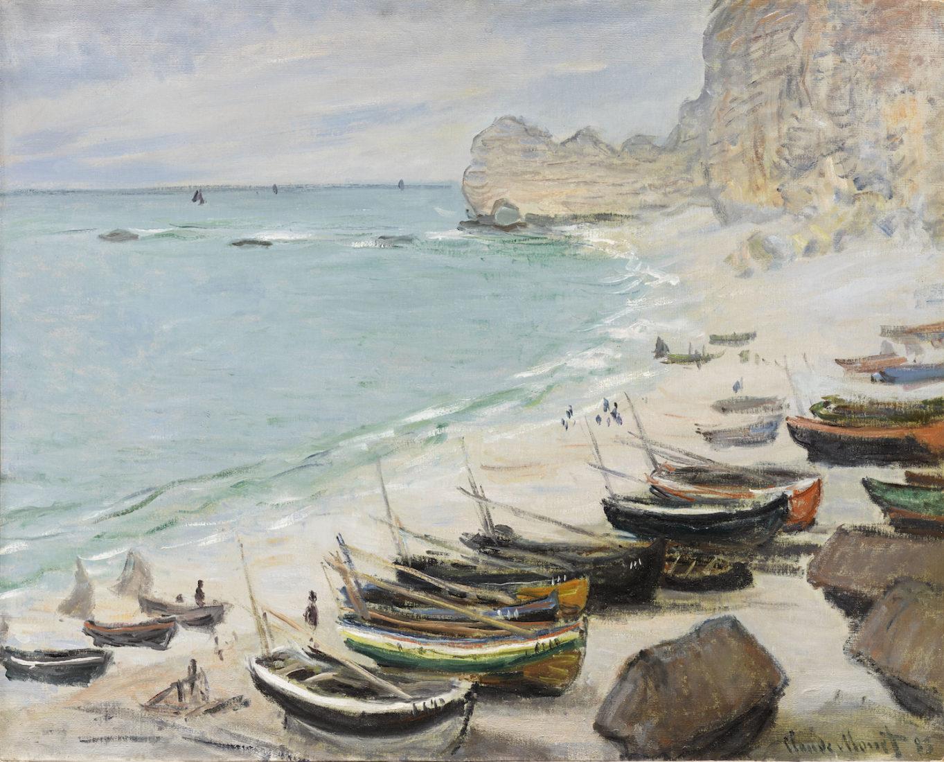 Claude Monet (1840-1926) Bateaux sur la plage à Etretat, 1883