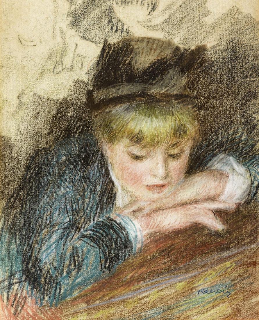 Pierre-Auguste Renoir, La Loge ou Portrait de jeuine fille,