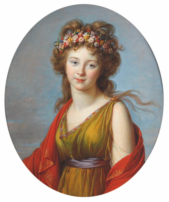 Elisabeth Vigée Le Brun 1755-1842. Portrait de la comtesse Anna Flora von Kageneck en Flore