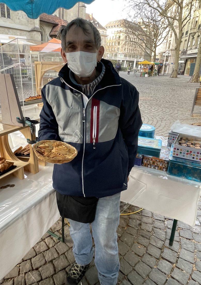 Pepe biscuitier, stand au marché de Lausanne