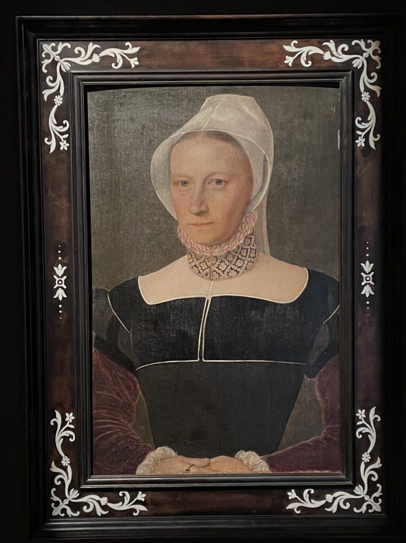 Portrait de dame à la coiffe blanche. Anonyme,