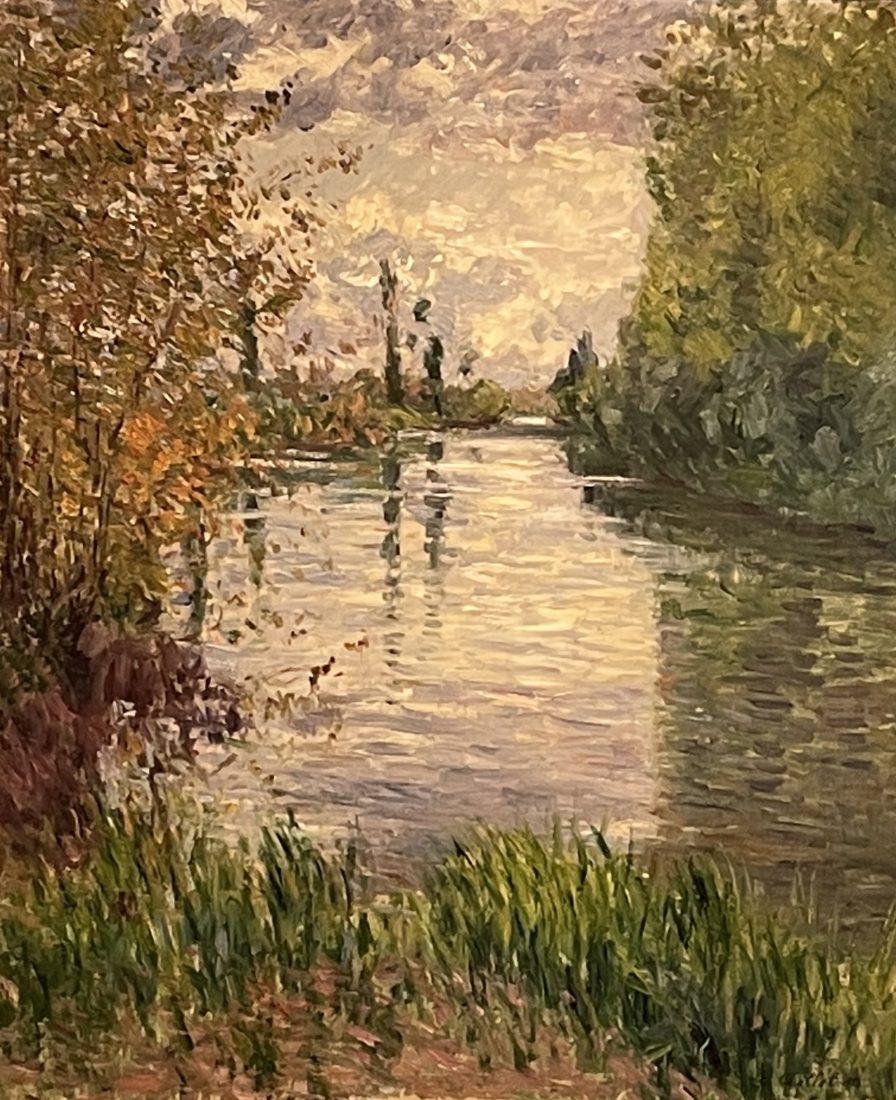 Gustave Caillebotte, Le petit Bras de la Seine en automne,
