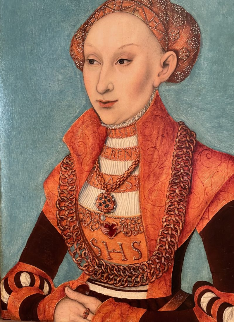 Lucas Cranach l'Ancien., Portrait de Sybille de Clèves,
