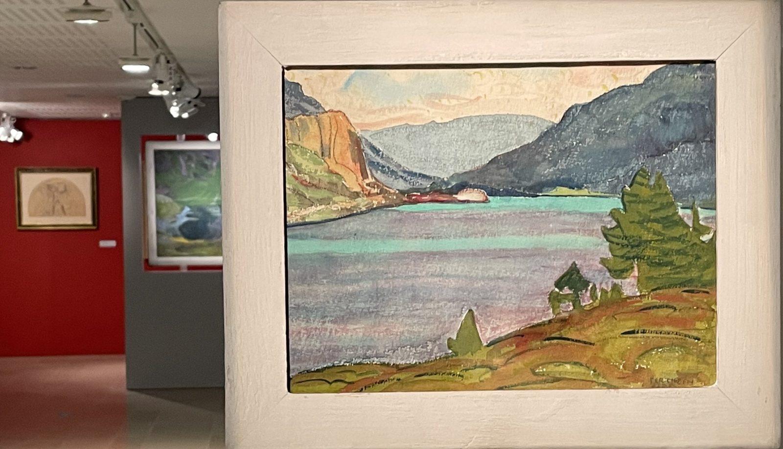 Cunio Amiet. Lac de Sils avec montagnes